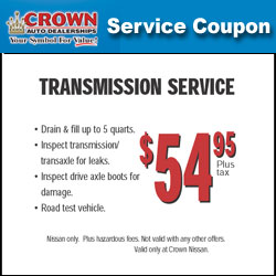 coupons for cars crown nissan. Black Bedroom Furniture Sets. Home Design Ideas